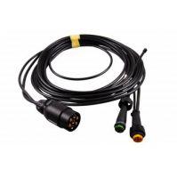 Aspöck kabelset 7- polig 5mtr (2x bajonet 5-polig + aftakking200mm)