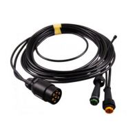 Aspöck kabelset 7- polig 7.5mtr (2x bajonet 5-polig + aftakking200mm)